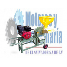 MOLINO DE MARTILLO COMBINADO CON PICADORA TP - 24 MOTOR 9HP GASOLINA