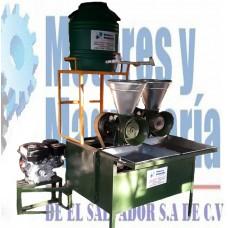 Molino de Nixtamal 2 Tolvas Tipo Transmisión Gasolina